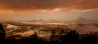 Glasshouse Mountains Misty Morning 2