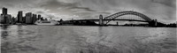 Sydney Harbour Panorama B&W
